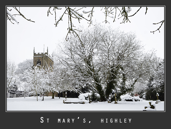 snowy wedding at highley